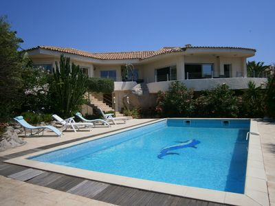 Photo for Ruscana villa and swimming pool 500m from the Gulf of Pinarello