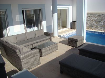 Photo for Spacious, contemporary villa with sun roof, pool and balcony