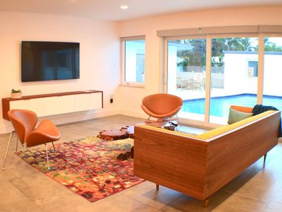 Photo for Modern Beach House with Pool - Walk to the Beach