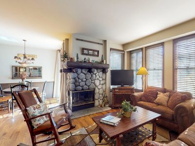 Photo for NEW LISTING! Inviting condo w/fireplace & shared hot tub/sauna - near skiing
