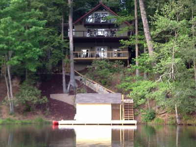 Photo for Rumbling Bald Resort-on BALD MOUNTAIN LAKE LAKE FRONT-Boats