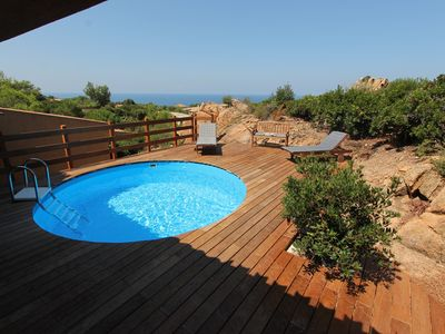 Photo for Magnificent villa with private pool, sun terrace and sea view