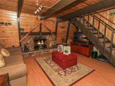 Photo for Comfy Cubby - WiFi, Cozy Fireplace, and Large Deck! FREE 2 hour Bike/Kayak Rental!