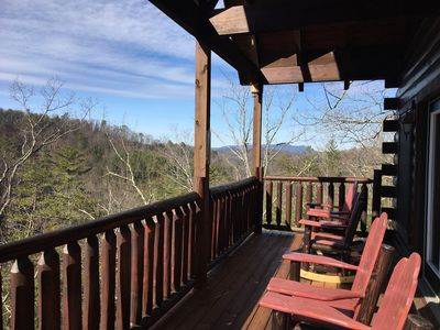 View from our deck taken February 2017. Come and enjoy spring in the Smoky Mts.