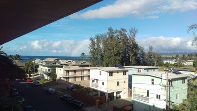 Watch the rainbows from the living room's lanai.