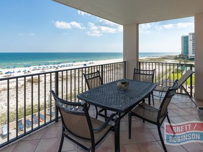 Photo for Gulf Front Vacation Property over looking the pool and beach!