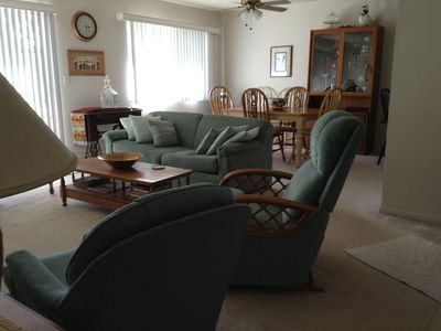 Living Room and Dining Room Area, Seating for 6 adults