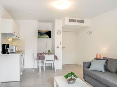 Photo for Lovely apartment for 2 guests with pool, WIFI, A/C, TV and parking