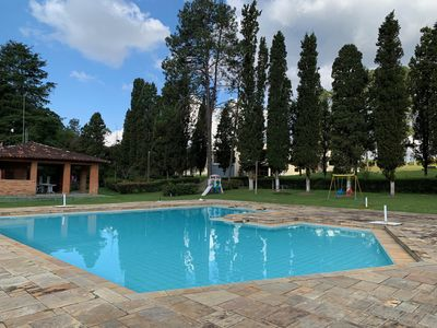Photo for Beautiful site with huge pool, tennis court, barbecue and lake.