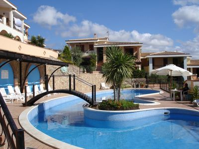 Photo for Villasimius, two-room apartment in a residence with swimming pool.