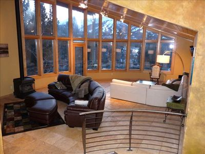 The great room with fantastic views of the slopes