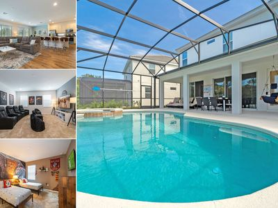 Photo for Amazing Pool Home With Spa, Games Room & Themed Kid's Rooms in Gated Resort