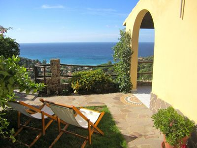 Photo for VILLA PANORAMICA just 300 meters from the beach MARI PINTAU, GEREMEAS