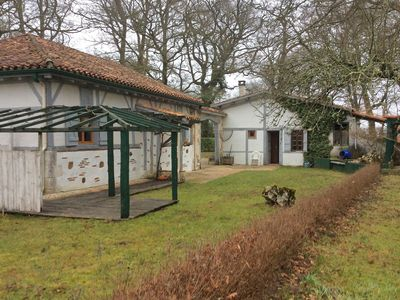 Photo for Landes house with summer kitchen and private, 6000m2 garden 1/2h from the beaches.