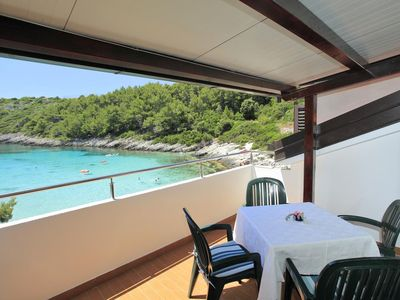 Photo for Two bedroom apartment near beach Zavalatica, Korčula (A-9234-a)
