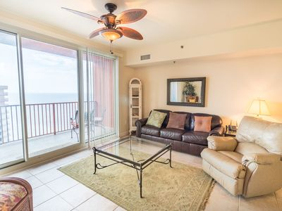 Photo for Very Clean 23rd Floor 2 bedroom, ALL TILE!  Reserved parking Space