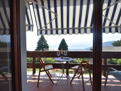 Photo for Accommodation with balcony and beautiful view of Lake Maggiore