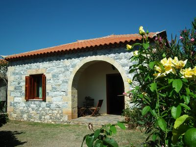 Photo for Modern and lovely decorated stone bungalow in beautiful complex