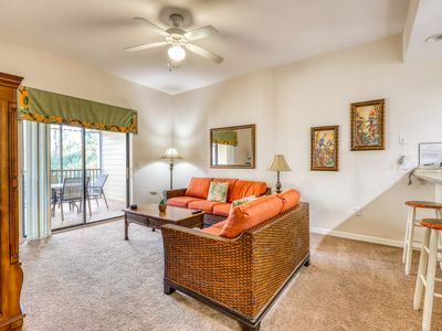 Photo for 1st floor condo w/ patio, shared pools, gym, limited-mobility access, sauna