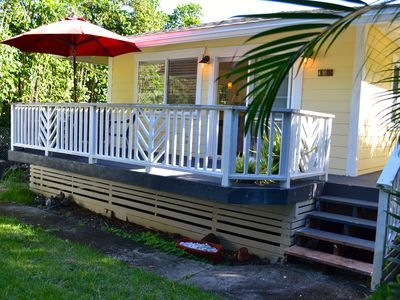 Family Friendly Plantation Home Close to Beach. Private yard w/t lanai and BBQ.