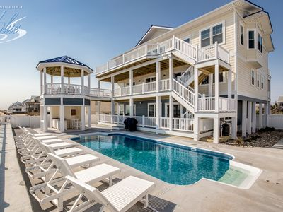 Photo for American Dream | Oceanfront | Dog Friendly, Private Pool, Hot Tub