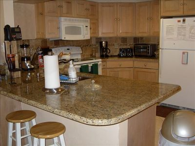 Fully equiped kitchen plus washer & dryer