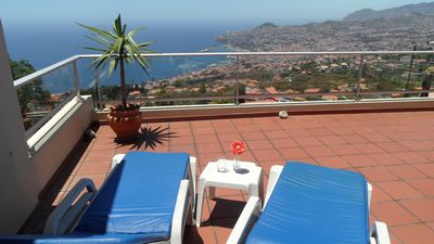 Photo for Dream vacation in cozy apart with a superb view to the sea & mountains.BBQ, WiFi