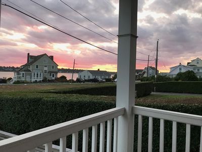 A beautiful view from the porch.