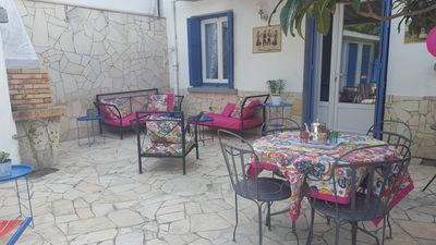 Photo for Comfortable T2, privative garden, calm WIFI .300M Beach of the pines and trade