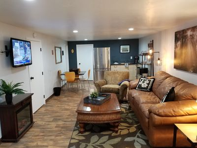 Photo for Cabin Guest Apartment Downstairs - Quite, Cozy, Relaxing - 5 Min To Downtown
