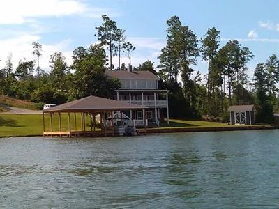 The View and Boat Dock from Lake Martin