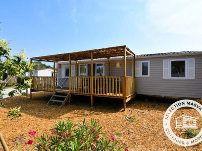 Photo for Camping Argelès Vacances **** - Maeva Camping - Mobil Home Family 5 Rooms 8/10 People conditioning