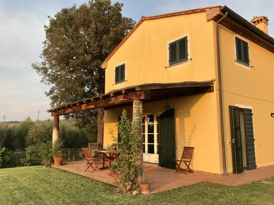 Photo for Single villa with swimming pool on the Bolgheri wine route.