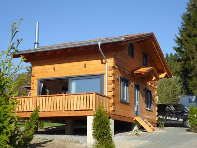 """Photo for 5 star log cabins with sauna + fireplace in the Alps - chalet style, romance """"cottage"""""""