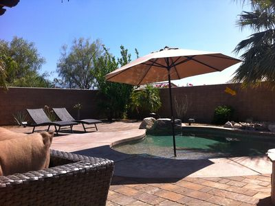 Photo for A Desert Oasis~ Unwind in this tranquil home with Private Pool & Spa