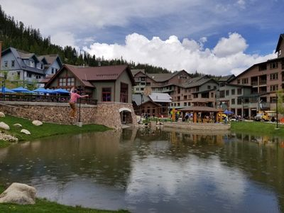 Photo for Winter Park's base village across from the Gondola, base activities and Trestle