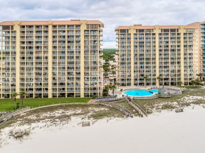 Photo for Modern, Gulf front condo w/ a spacious kitchen, shared pools, & hot tub