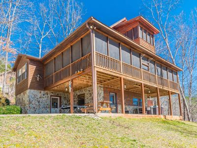 Photo for Cherokee Sunrise, a Majestic Mountain Cabin on 3 stories!