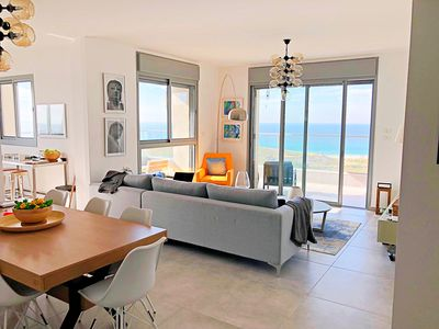 Photo for Romantic Ocean View haven Walk to Beach. 7 min-Tel-Aviv Ctr, perfect location