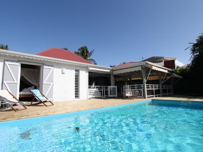 Photo for Creole villa completely renovated, with pool at the edge of the water
