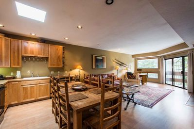 Adjacent to the kitchen is a large formal dining area that can easily seat eight (8) people and a great place to gather each evening with friends & fa
