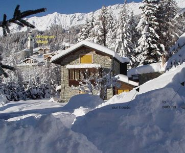Photo for Val D Ayas: chalet - 5 rooms - 6/10 persons House with garden