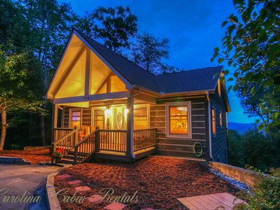 Photo for Mountain Cabin on App Ski Mtn with Big Views, Hot Tub, Game Room, Fireplace, Foosball, Fire Pit