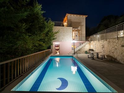 Photo for Lyra Villa - Villa with Amazing Seaviews, A/C and Private Pool, suitable for up to 10 Persons ! Free WiFi