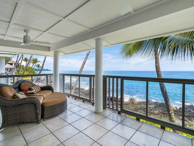 Photo for Tranquil Oceanfront Island Style Townhouse with AC
