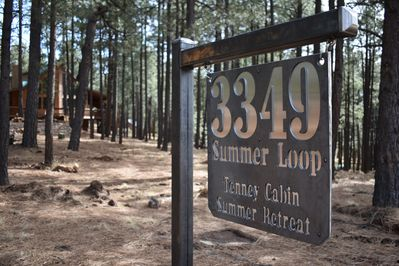 Look for the sign right after you turn left on Summer Loop