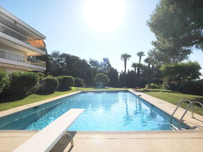 Photo for BEAUTIFUL APARTMENT 3 ROOMS WITH SWIMMING POOL AND SEA VIEW IN CANNES