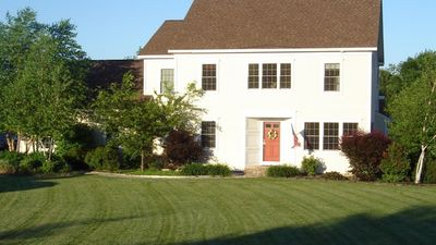 Photo for Privacy and greenery just 3 miles from Saratoga Race Track with private pool gym