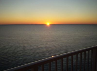 Sunset from our balcony