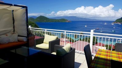 Photo for House with splendid view of one of the most beautiful bays in the world!The Saintes